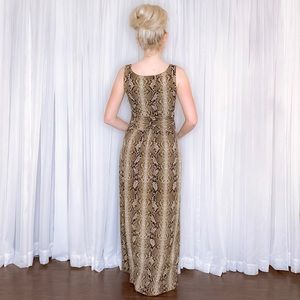 Vince Camuto Dresses - Vince Camuto Snake Animal Print Maxi Dress